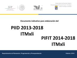 PIID 2013-2018 del ITMxli - Instituto Tecnológico de Mexicali