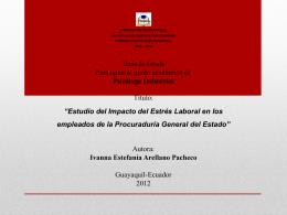 Estudio del Impacto del Estrés Laboral Ivanna Arellano