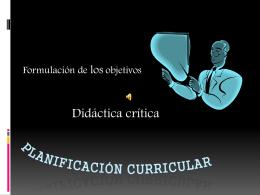 Didactica crtica componentes de la programacion 3° año de