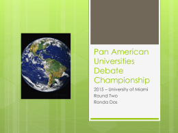Pan American Universities Debate Championship