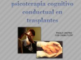 psicoterapia cognitivo conductual en trasplantes
