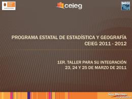 Programa Estatal de Estadística y Geografía 2011 - ceieg