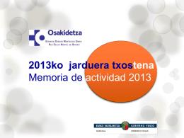 2013ko jarduera txostena