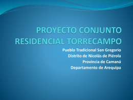 PROYECTO CONJUNTO RESIDENCIAL TORRECAMPO