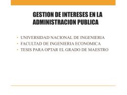 Presentación de PowerPoint - Maestria en Gestión Pública UCV