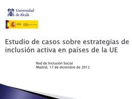 Políticas de inclusión activa en la UE