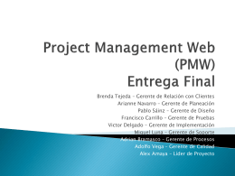 Project Management Web Entrega Inicial