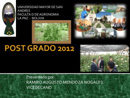 POST GRADO 2012 - Foro de Decanos del Mercosur
