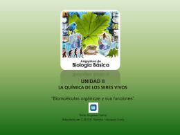 Biomoléculas orgánicas y sus funciones