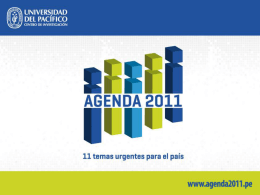 Regulación - Agenda 2011
