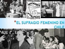 el sufragio femenino en chile