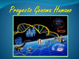 Presentación Proyecto Genoma Humano-1