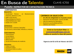 Promoción Interna - INSTRUCTOR DE CAPACITACION