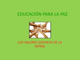 EDUCACIÓN PARA LA PAZ II-2