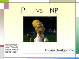 p vs np - upcAnalisisAlgoritmos