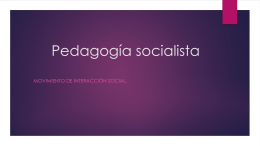 pedagogia socialista grupo No.6 power point