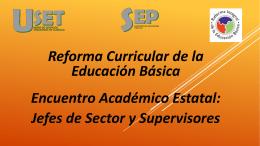 - Programa de Reforma Curricular de Educación Básica
