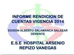 1. Informe Rendicion De Cuentas 2014