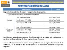 X - PIFI - Secretaría de Educación Pública
