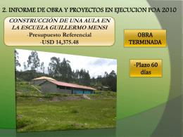 INFORME-FEBRERO-2011 - Junta Parroquial Octavio Cordero