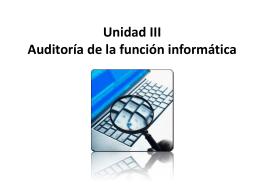 Unidad III Auditoria - uttn-tics
