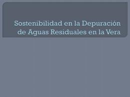Depuración de Aguas Residuales en la Vera