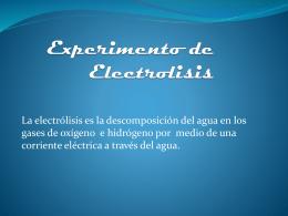Experimento de Electrolisis (1)
