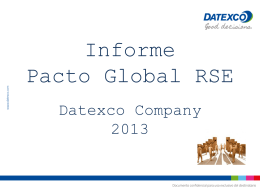 Informe PACTO Global RSE