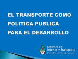 Diapositiva 1 - Encuentro Argentino de Transporte Fluvial