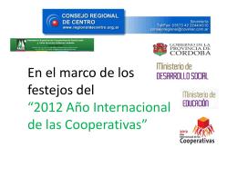 Diapositiva 1 - Consejo Regional de Centro