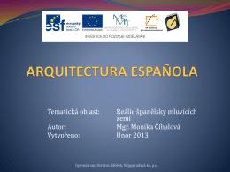 arquitectura española - Gymnázium Volgogradská 6a