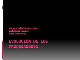 Evolución de Los procesadores