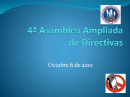 2ª Asamblea de Presidentes Ampliada