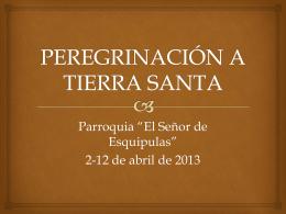 File - Tierra Santa 2013