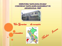 INSPECTORIA *SANTA ROSA DE LIMA* COMUNIDAD *SANTA
