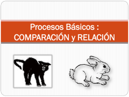 COMPARACIÓN y RELACIÓN