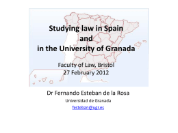 Studying law in Spain and in the University of Granada