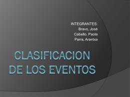 CLASIFICACION DE LOS EVENTOS