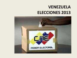 VENEZUELA ELECCIONES 2013
