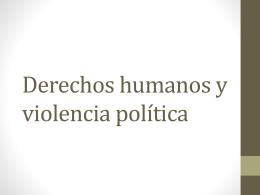 Derechos humanos y violencia politica