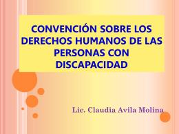 Convención sobre los derechos humanos de las personas con