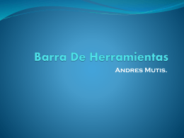 Barra de herramientas - Andres mutis (151795)