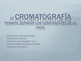 la cromatografía permite separar los componentes de la tinta.