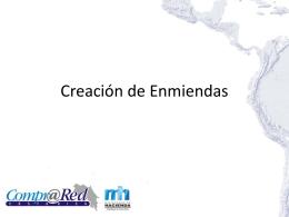 Creación de Enmiendas - Ministerio de Hacienda
