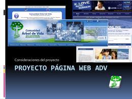 Proyecto página web adv - Comunidad Arbol de Vida