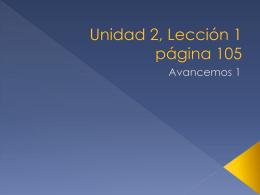 Unidad 2, Lección 1