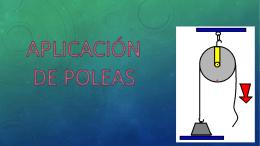 APLICACIÓNDE POLEAS