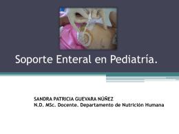 Soporte Enteral en Pediatría.