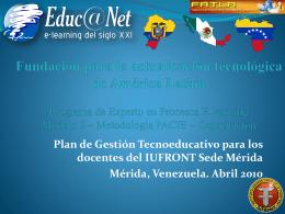 plan de gestion tecnoeducativo para los docentes del