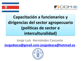 agricultura capacitacion interculturalidad